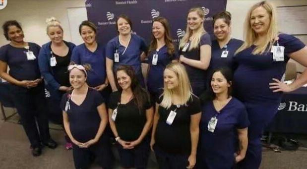 美国医院同一科室16名护士怀孕