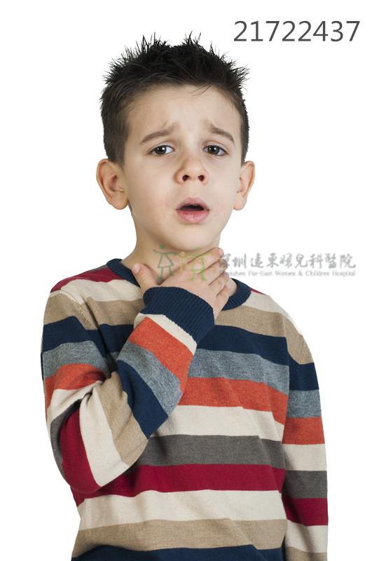 孩子过敏性咳嗽导致喉咙不舒服