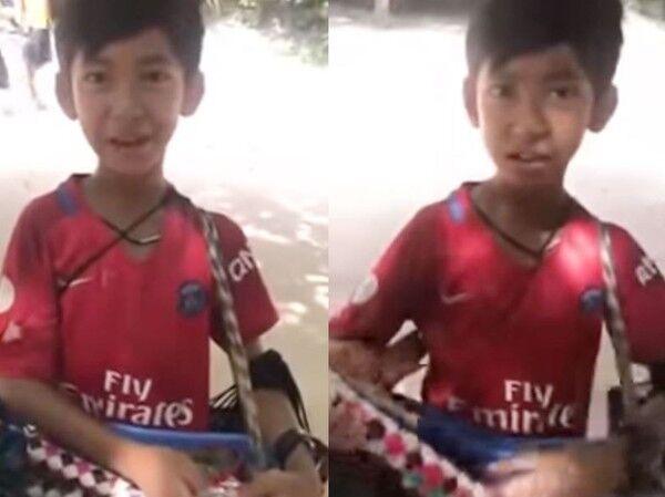 柬埔寨男孩