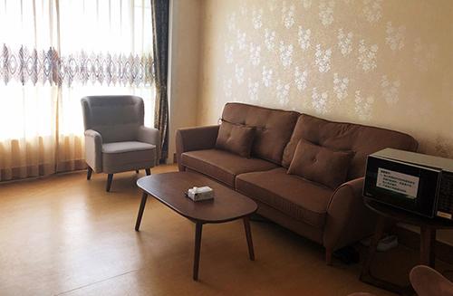 宽敞的产后VIP套房客厅